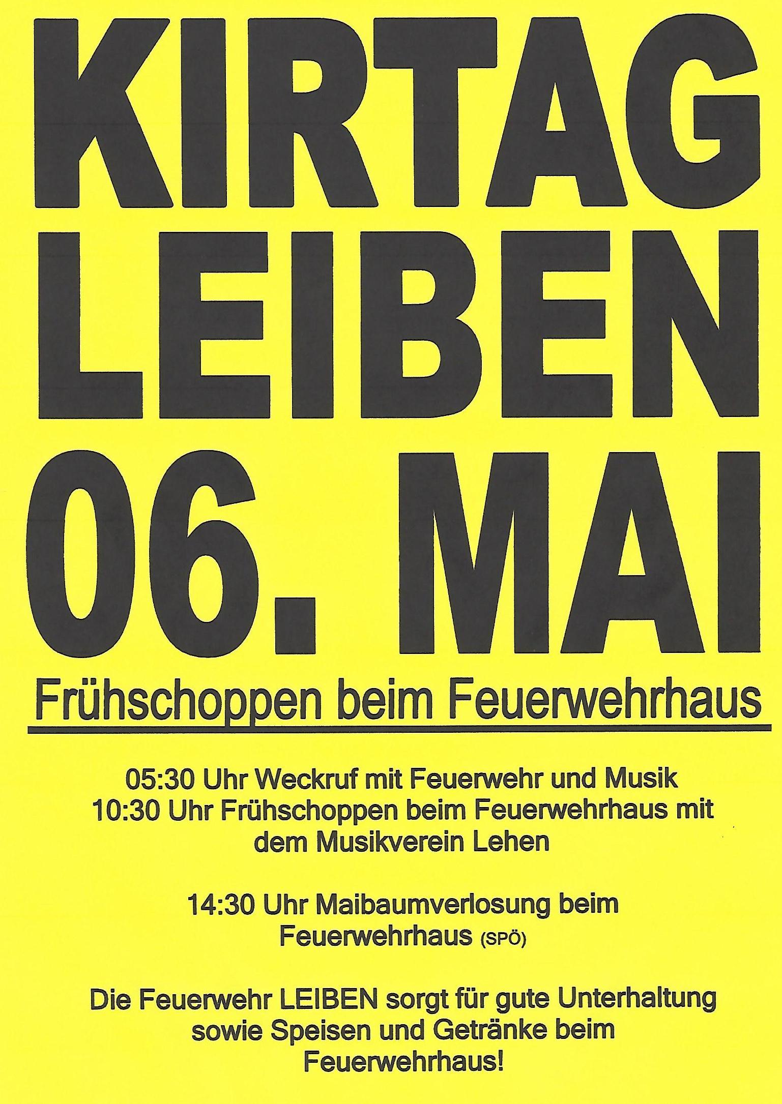 Kirtag in Leiben – FF Leiben